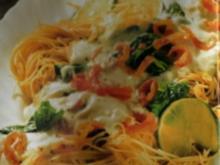 Spaghetti mit Zitronen-Lachs-Soße - Rezept