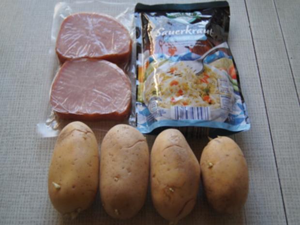 Kasseler mit herzhaften Sauerkraut und Kartoffel-stampf - Rezept - Bild Nr. 3