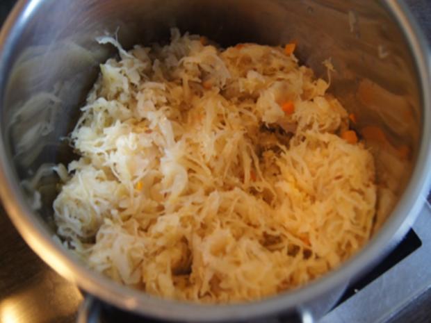 Kasseler mit herzhaften Sauerkraut und Kartoffel-stampf - Rezept - Bild Nr. 6