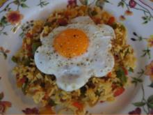 Gebratener Paprikamix-Reis mit Spiegelei - Rezept - Bild Nr. 2