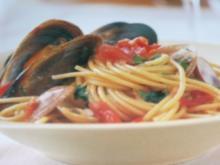 Spaghetti marinara - Rezept