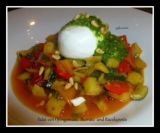 Salat von Ofengemüse , Burrata und Rucolapesto - Rezept - Bild Nr. 2