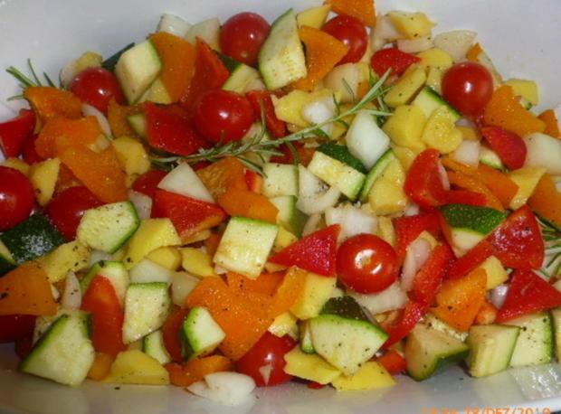 Salat von Ofengemüse , Burrata und Rucolapesto - Rezept - Bild Nr. 3