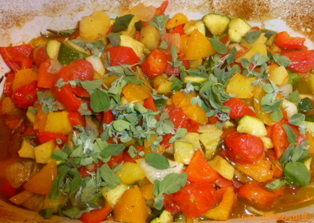 Salat von Ofengemüse , Burrata und Rucolapesto - Rezept - Bild Nr. 5