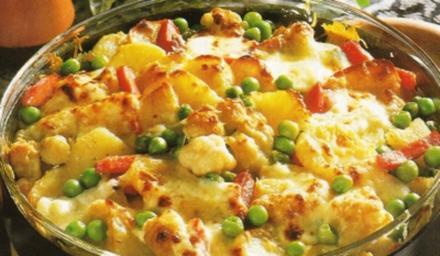 Gemüse Auflauf mit Fleischwurst - Rezept