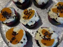 Schoko - Cupcakes mit Orangensahne - Rezept - Bild Nr. 2
