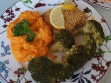 Schlemmerfilet mit Brokkoli und Süßkartoffelstampf - Rezept - Bild Nr. 9681