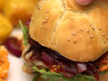Burger und Roast Potatoes - Rezept - Bild Nr. 2