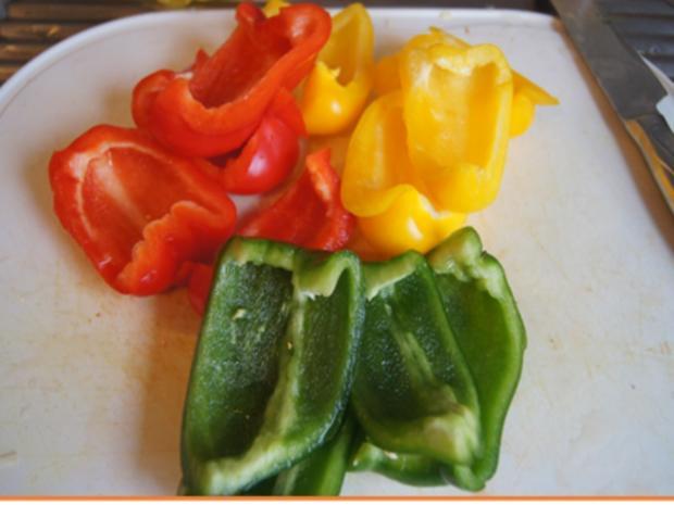 Thüringer Rostbratwurst mit Gemüsepaprikamix und Süßkartoffelstampf - Rezept - Bild Nr. 8