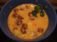 Kartoffel-Linsen-Eintopf mit Würstcheneinlage - Rezept - Bild Nr. 2