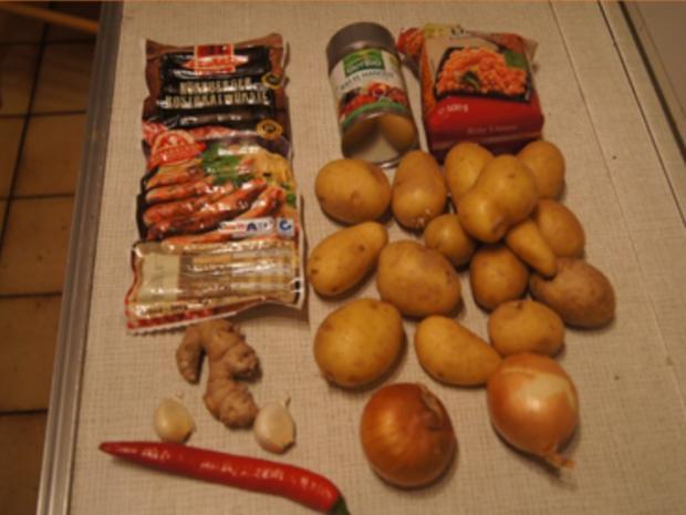 Kartoffel-Linsen-Eintopf mit Würstcheneinlage - Rezept - Bild Nr. 3
