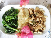 Hühnerfleisch mit Pilzen und Mandeln - Rezept - Bild Nr. 2