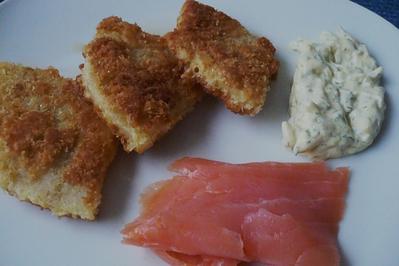 Rezept: Sellerieschnitzel mit Räucherlachs
