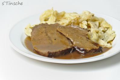 Rezept: Sauerbraten in Buttermilch mariniert