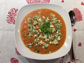 Linsensuppe mit Feta-Cashew-Pesto - Rezept - Bild Nr. 2