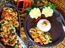 Tintenfischringe im Mehlmantel mit süßer Tamarindensauce - Rezept - Bild Nr. 2