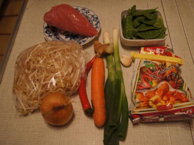 Putenbrustwürfel mit Gemüsestreifen - Rezept - Bild Nr. 3