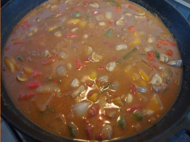 Schweinefiletcurry mit Gemüsemix im Wok und Drillinge - Rezept - Bild Nr. 9851