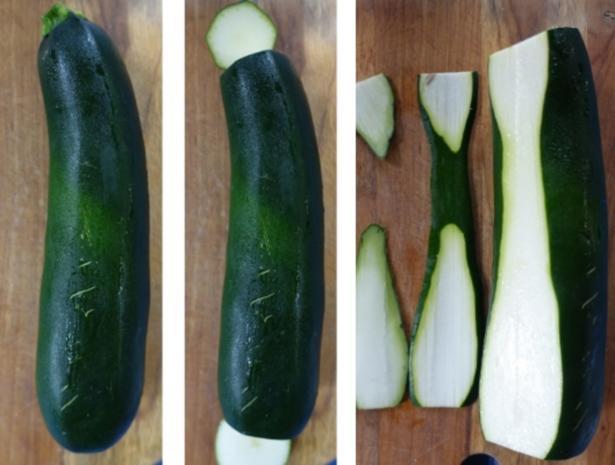 Scharfe Zucchini-Rouladen mit Rindfleisch- und Gemüsefüllung - Rezept - Bild Nr. 4