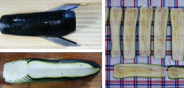 Scharfe Zucchini-Rouladen mit Rindfleisch- und Gemüsefüllung - Rezept - Bild Nr. 5