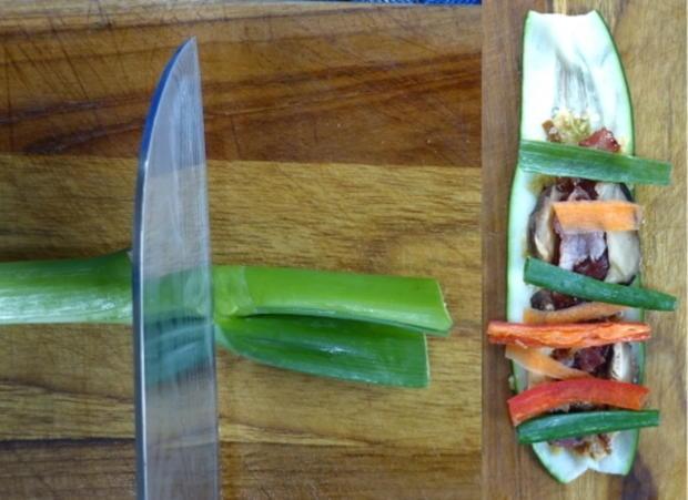Scharfe Zucchini-Rouladen mit Rindfleisch- und Gemüsefüllung - Rezept - Bild Nr. 10