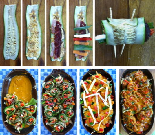 Scharfe Zucchini-Rouladen mit Rindfleisch- und Gemüsefüllung - Rezept - Bild Nr. 19