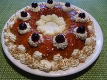 Mandel-Karamell-Pudding mit Schmand-Creme - Rezept - Bild Nr. 2