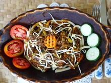 Gebratenes Rindfleisch im Makkaroni-Bett - Rezept - Bild Nr. 2