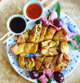 Gefüllte, frittierte Omeletten - Zui Zha Su Juan - Rezept - Bild Nr. 5