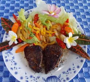 Gebratene Rinderleber mit Gemüse in süß-saurer Sauce - Rezept - Bild Nr. 2