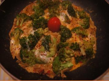 Scharf, herzhaftes Omelett mit Brokkoli - Rezept - Bild Nr. 2
