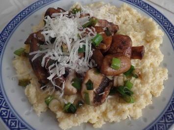 Cremige Polenta mit Pilzen - Rezept - Bild Nr. 9858