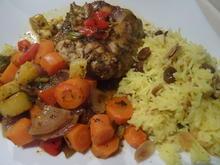 """Kaninchen """"orientalisch"""" mit Safran-Reis - Rezept - Bild Nr. 8"""