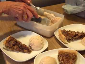Pecan-Kuchen mit Zimteis - Rezept - Bild Nr. 3