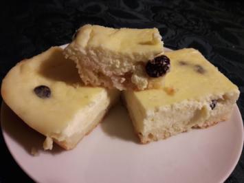 Rezept: Typisch Lausitzer Quarkkuchen vom Blech, mit Kartoffeln und Leinöl