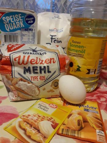 Typisch Lausitzer Quarkkuchen vom Blech, mit Kartoffeln und Leinöl - Rezept - Bild Nr. 4