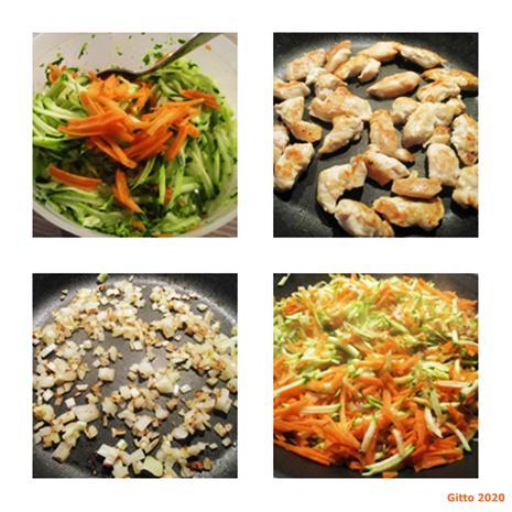 Hähnchenfilet in Gemüserahm - Rezept - Bild Nr. 3