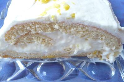 Rezept: Zitronen - Biskuitrolle