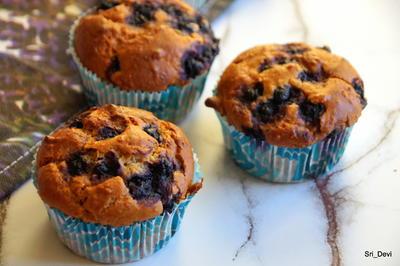 Hafer-Blaubeer-Muffins mit Honig - Rezept - Bild Nr. 2
