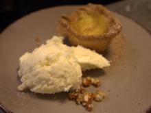 Pasteis de Nata mit Marzipaneis auf Mandelcrunch - Rezept - Bild Nr. 2