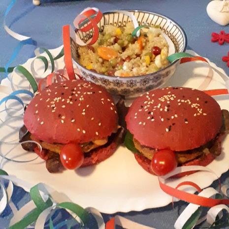 Clown-Burger und Konfetti-Salat = kochbar Challenge 2.0 (Februar 2020) - Rezept - Bild Nr. 7