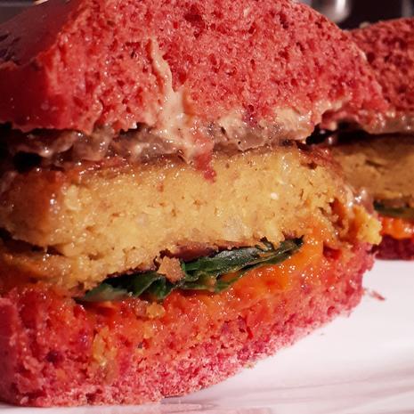 Clown-Burger und Konfetti-Salat = kochbar Challenge 2.0 (Februar 2020) - Rezept - Bild Nr. 9