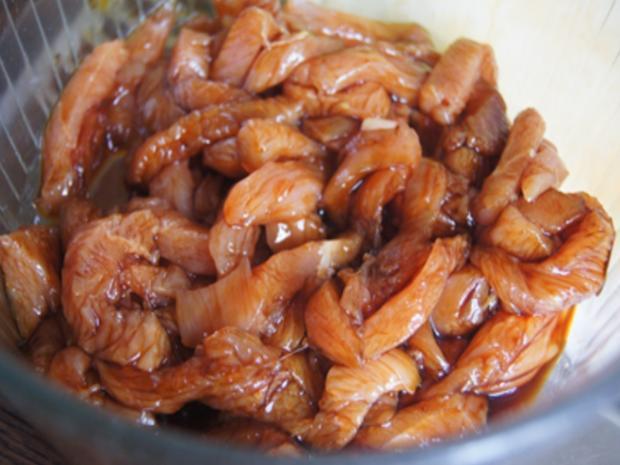 Putenbrustfilet mit Gemüse süß-sauer im Wok und gelber Basmatireis - Rezept - Bild Nr. 6