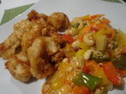 Gebackenes Huhn mit Orangen-Glasur und süß-sauer-Gemüse - Rezept - Bild Nr. 2