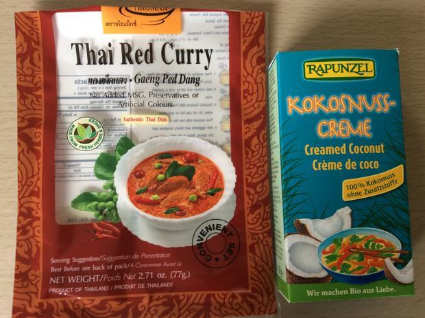 Thai Red Curry Linsensuppe mit Gemüse und Berglinsen - Rezept - Bild Nr. 3