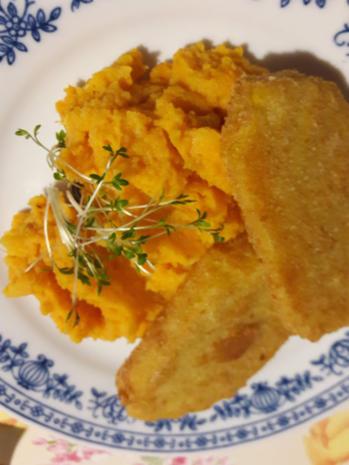 Süßkartoffelpüree mit Steckrüben Schnitzel - Rezept - Bild Nr. 2