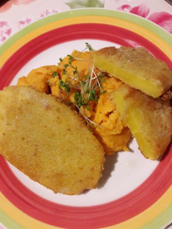 Süßkartoffelpüree mit Steckrüben Schnitzel - Rezept - Bild Nr. 3