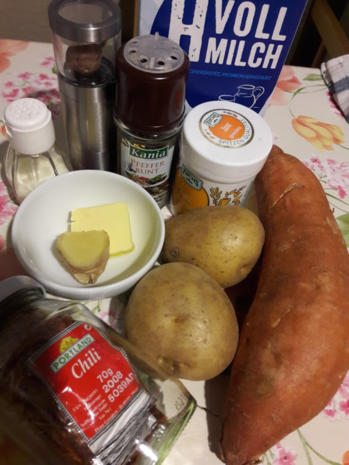 Süßkartoffelpüree mit Steckrüben Schnitzel - Rezept - Bild Nr. 4