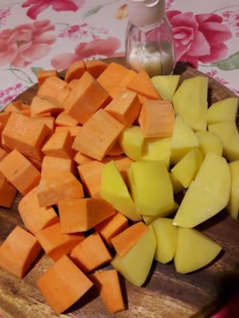 Süßkartoffelpüree mit Steckrüben Schnitzel - Rezept - Bild Nr. 5