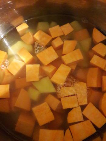 Süßkartoffelpüree mit Steckrüben Schnitzel - Rezept - Bild Nr. 6